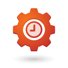 Gear icon with a clock