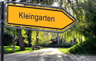 Strassenschild 25 - Kleingarten