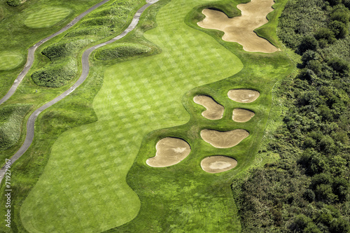 Tuinposter Golf Aerial view of golf course