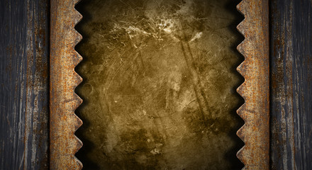 Dark Grunge Metal Background