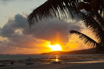 coucher de soleil, anse Mourouk, île Rodrigues