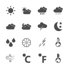 weather icon set, vector eps10