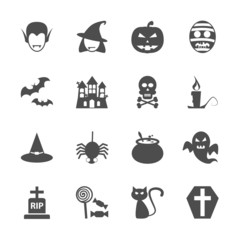 halloween icon set, vector eps10