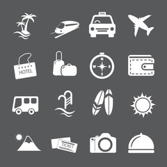travel and vacation icon set, vector eps10