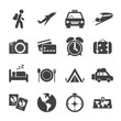 traveling and transport icon set, vector eps10