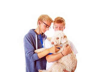 Teenager mit Hund