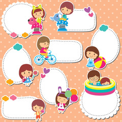 playground kids text box design