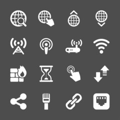 network icon set, vector eps10