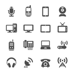 communication device icon set, vector eps10