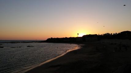 Atardecer en Playa de la Muralla. El Puerto de Santa María.