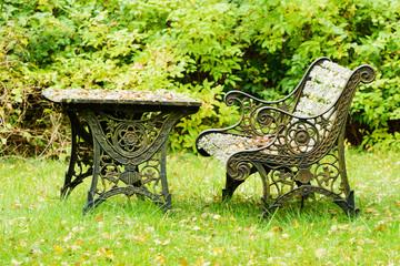Old iron furniture