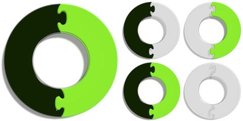 Circle Puzzle 02 - Green