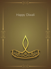 Elegant Happy Diwali background