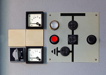 Old meter on the control panel