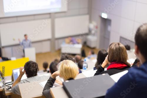 Leinwanddruck Bild Lecture at university.
