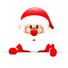 Santa Banner Thumb up