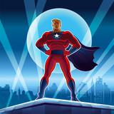 Fototapety Superhero. Vector illustration on a background