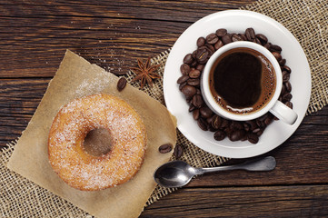 Coffee with donut