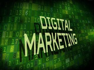 digital marketing words isolated on digital background