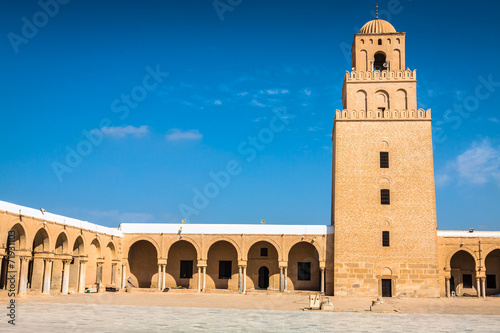 Poster Tunesië The Great Mosque of Kairouan (Great Mosque of Sidi-Uqba), Tunisi