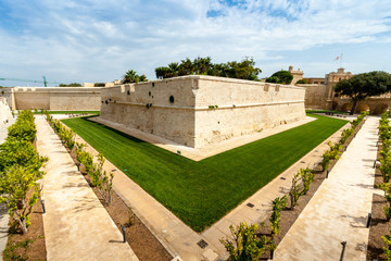Wall in Mdina, the old capital of Malta
