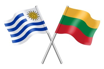 Flags: Uruguay and Lithuania