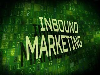 inbound marketing words isolated on digital background