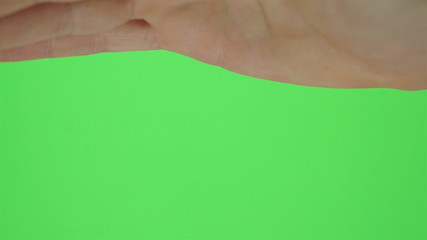 Single Hand Shading Eyes Greenscreen