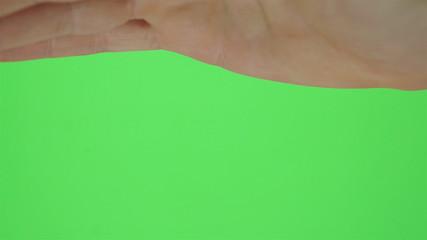 Single Hand Shading Eyes Greenscreen