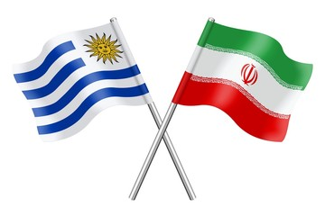 Flags: Uruguay and Iran