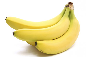 Banana on the white background 2