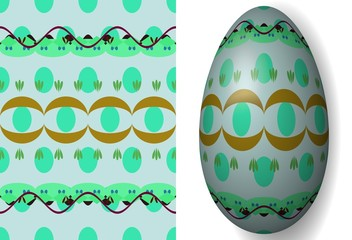 Colorful Easter egg texture variation