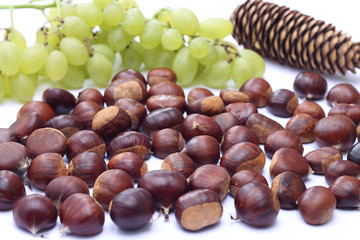 Chestnuts and grapes