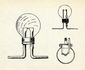 Lodygin's incandescent lamps