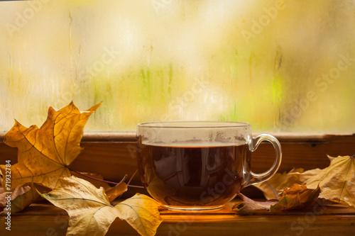 canvas print picture Autumn tea