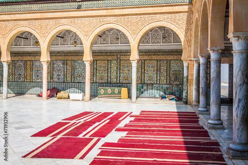 Foto op Plexiglas Bedehuis The Great Mosque of Kairouan in Tunisia