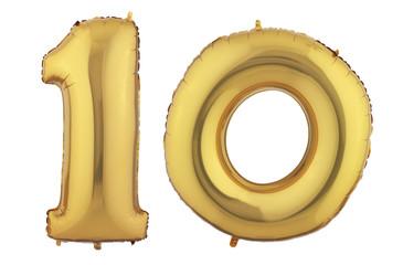 Gold Balloon Ten