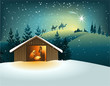 Christmas nativity scene with holy family - 71933343