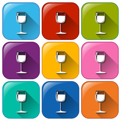Icons with wineglasses