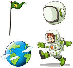 A happy astronaut