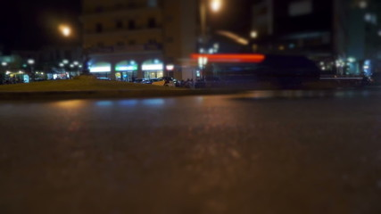 Evening city. Time lapse.