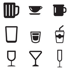 Glass Or Cup Icons