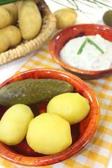 Kartoffeln und Quark mit Schnittlauch