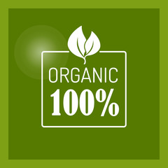 Vector icon for organic food
