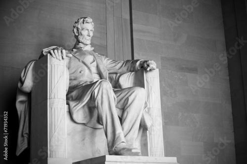 Fotobehang Historisch mon. Abraham Lincoln statue, Lincoln memorial in Washington