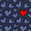 Loving heart. Seamless vector pattern.