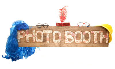 rustic floral photo booth sign