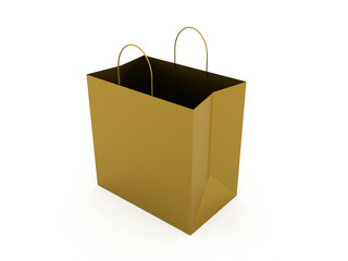 Gray shopping bag isolated on white