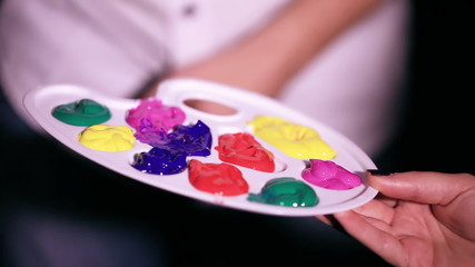 Palette of paints