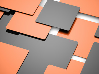 Orange abstract cubes business concept
